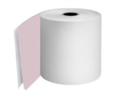 76mm 2ply 12.7mm Core White/Pink Rolls Boxed 20s - TRD055