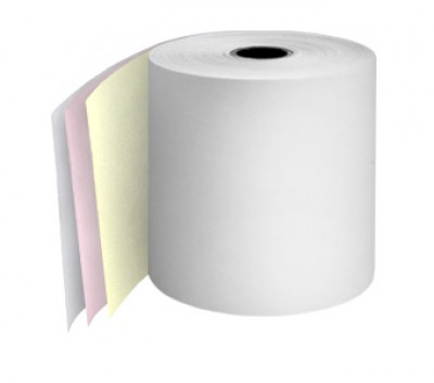 76mm 3ply 12.7mm Core White/Pink/Yellow rolls Boxed 20s - TRD064