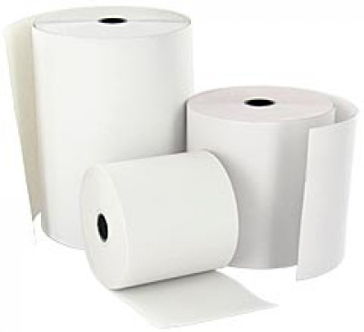 57 x 57 x 12.7 Core Single ply White Till Rolls Boxed 40s - TRD014